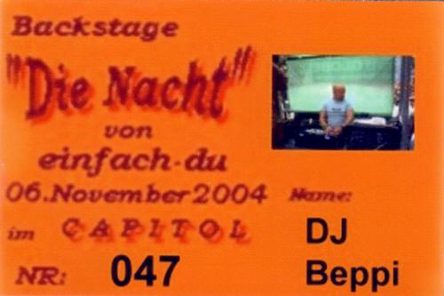 DJ Beppi at Die Nacht